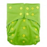 Scutec lavabil microfibra cu elastic dublu Alvababy    Light green