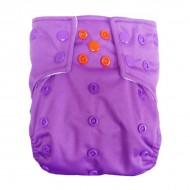 Scutec lavabil microfibra cu elastic dublu Alvababy Purple mood